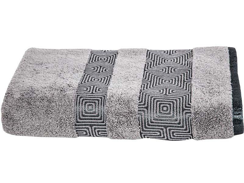 0c7a4a58149873 Ręczniki Bawełniane Becky Szary | Łazienka \ Ręczniki Bawełniane